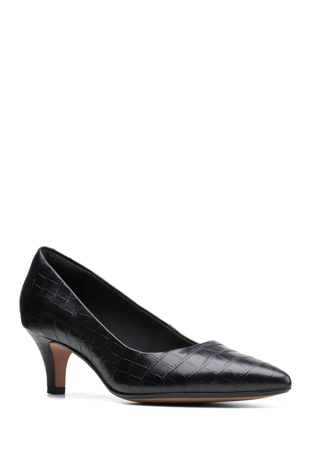 Image of Clarks Linvale Jerica Croc Embossed Pump - Wide Width Available