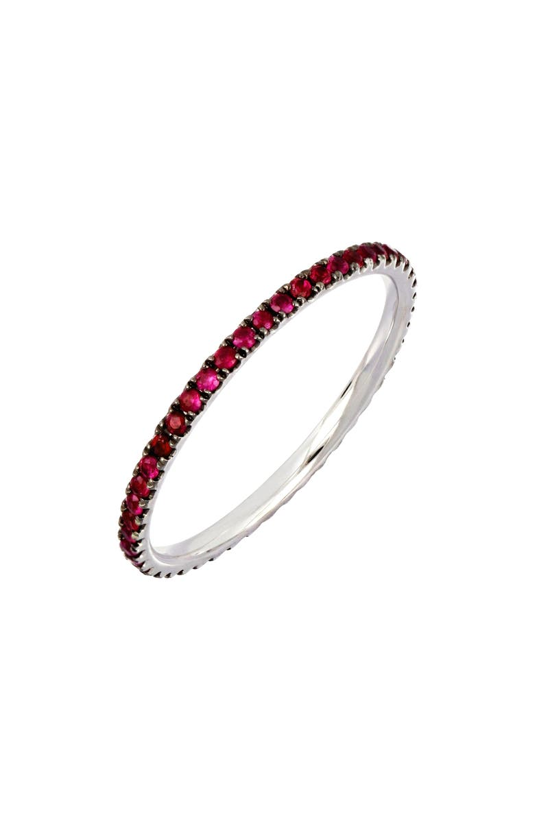 BONY LEVY Slim Ruby Eternity Stacking Ring, Main, color, 711