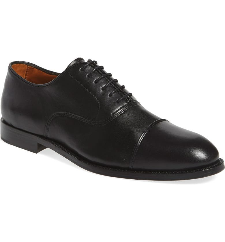 VINCE CAMUTO 'Eeric' Cap Toe Oxford, Main, color, BLACK LEATHER