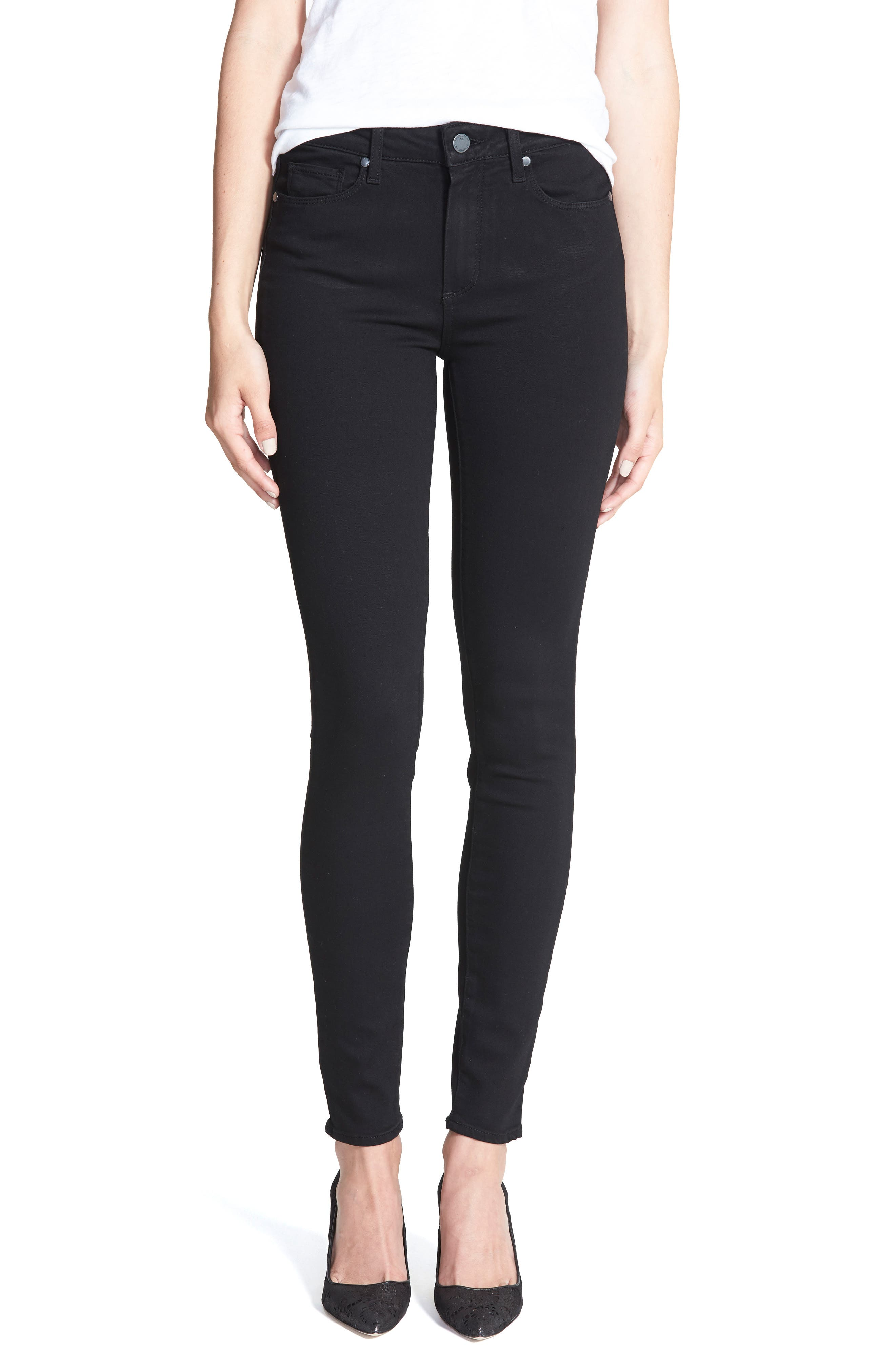 Women's Paige Transcend - Hoxton High Waist Ultra Skinny Stretch Jeans
