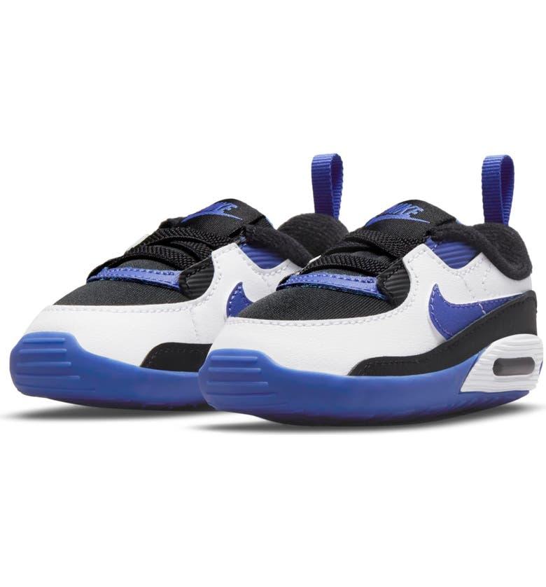 NIKE Air Max 90 Crib Sneaker, Main, color, BLACK/ PERSIAN VIOLET/ WHITE