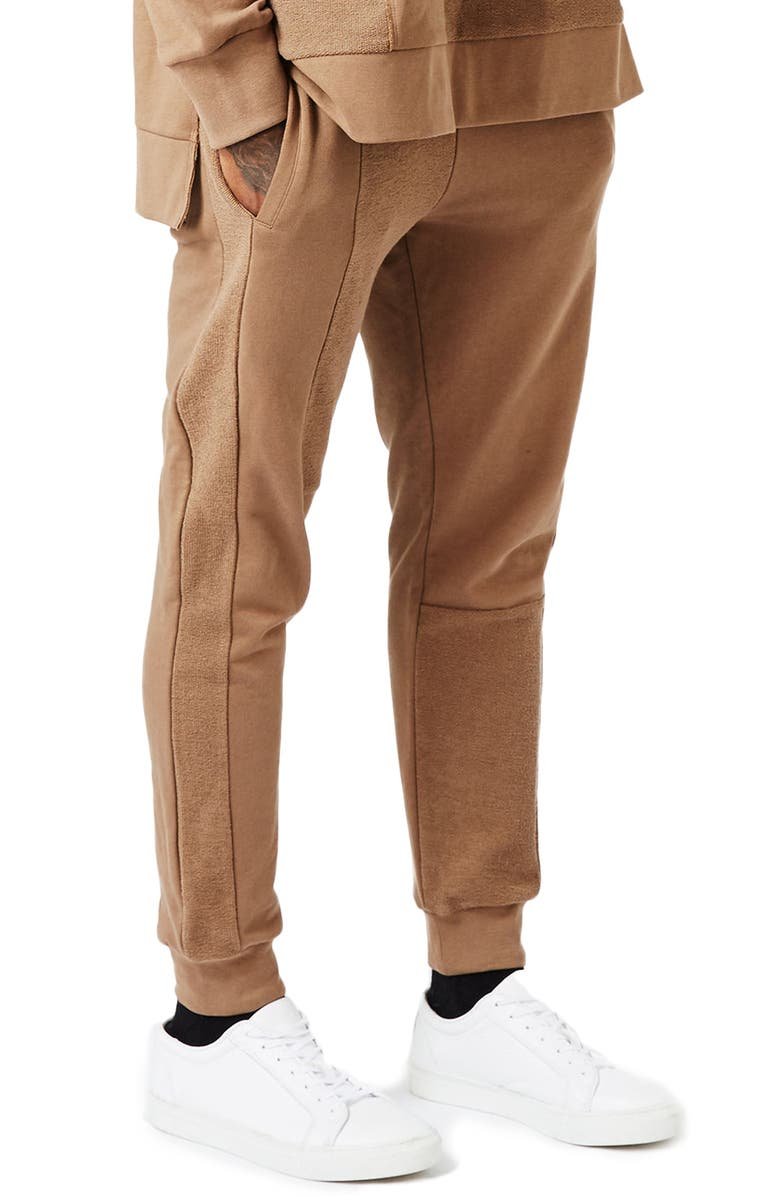TOPMAN AAA Collection Paneled Slim Fit Jogger Pants, Main, color, 210