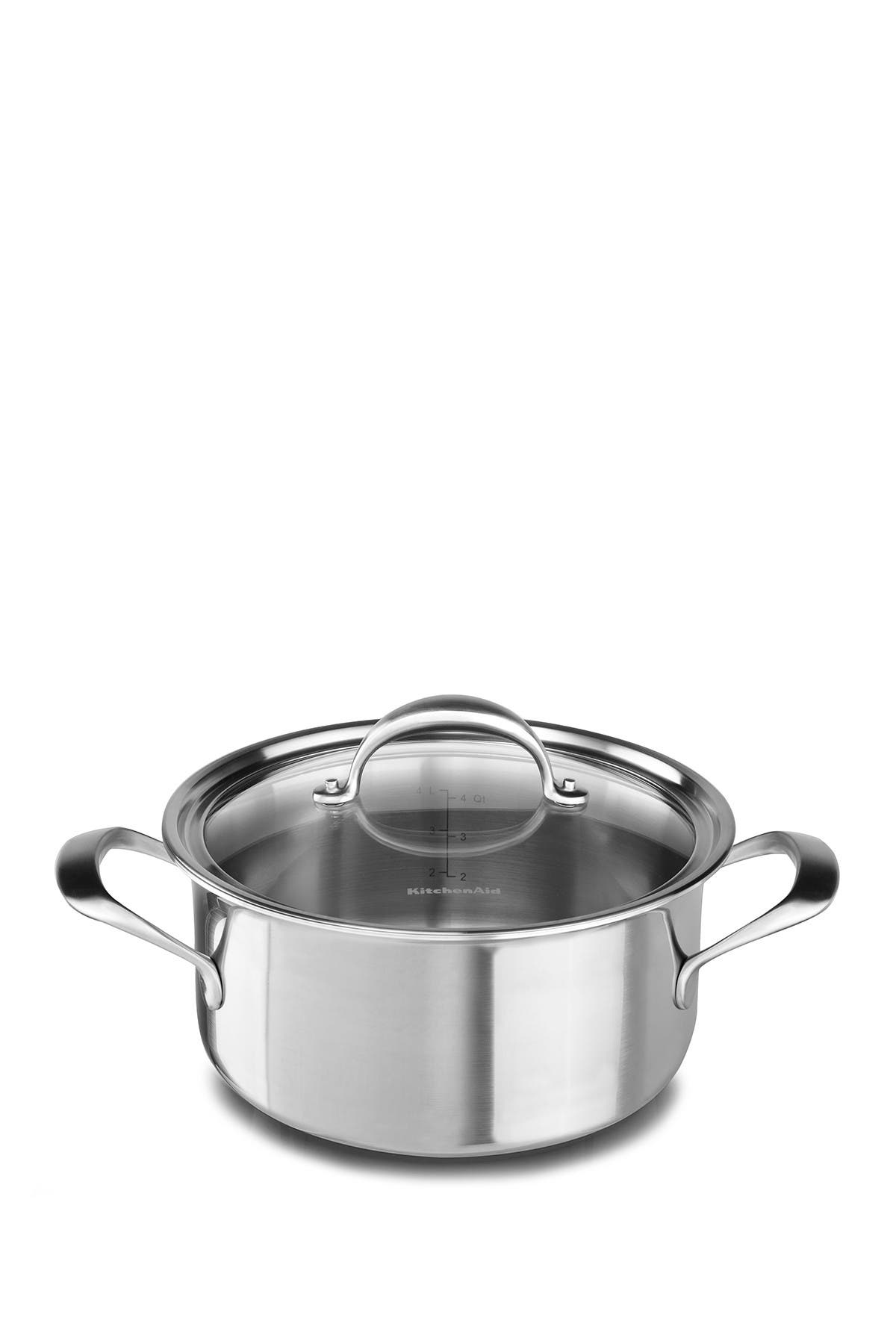 Image of KitchenAid Copper Core 6-Quart Low Casserole with Lid