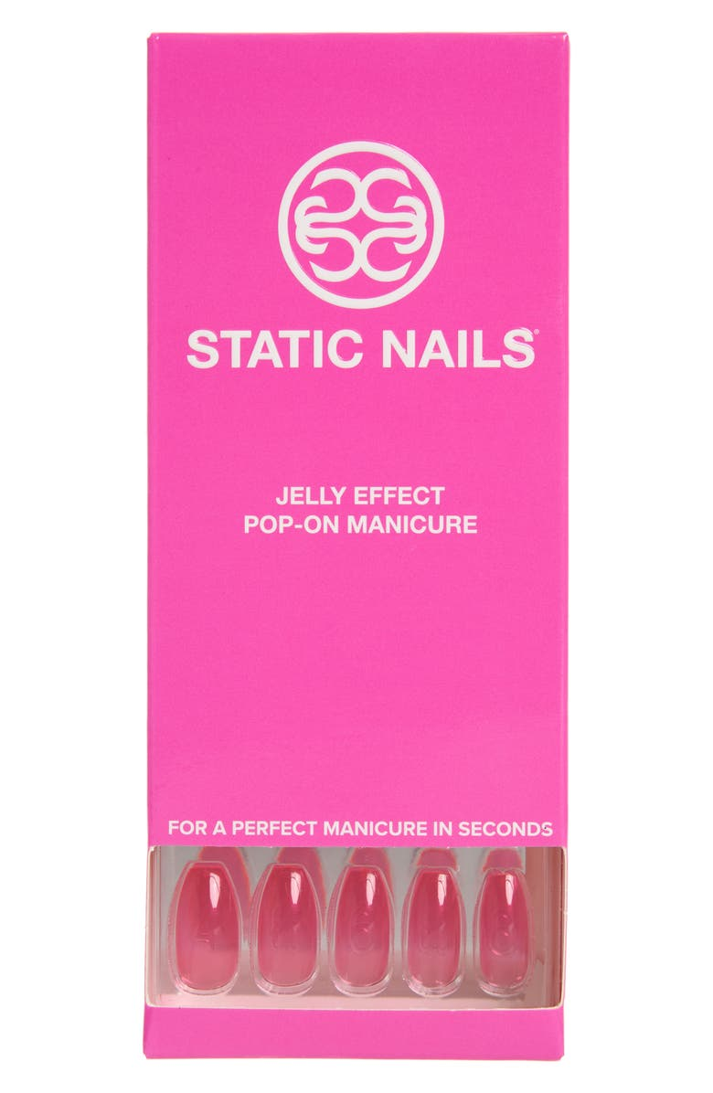 STATIC NAILS Fun Girl Pop-On Reusable Manicure Set, Main, color, FUN GIRL COFFIN