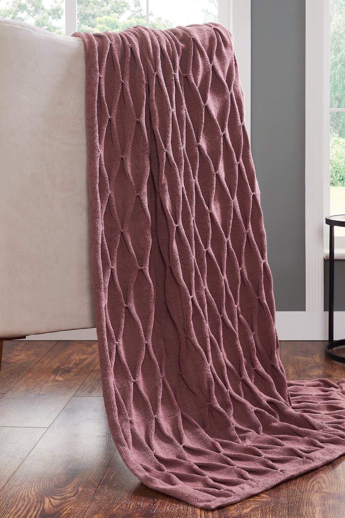 "Image of Modern Threads Acrylic Embellished Throw - 50"" X 60"" - Samira Rosewood"