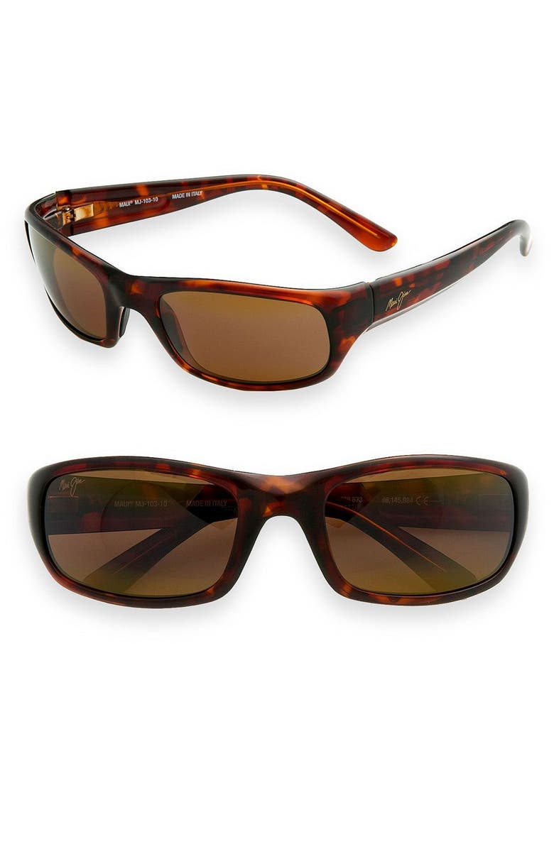 MAUI JIM 'Stingray - PolarizedPlus<sup>®</sup>2' 56mm Sunglasses, Main, color, TORTOISE