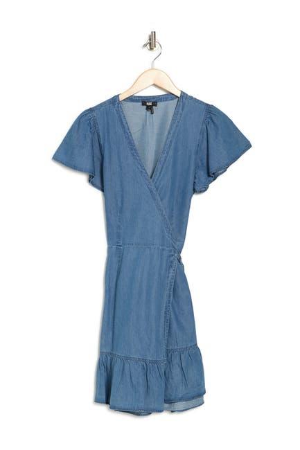 Image of PAIGE Calie Denim Wrap Dress