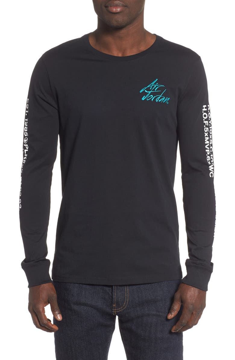 JORDAN JSW Greatest Graphic T-Shirt, Main, color, BLACK/ WHITE/ TURBO GREEN