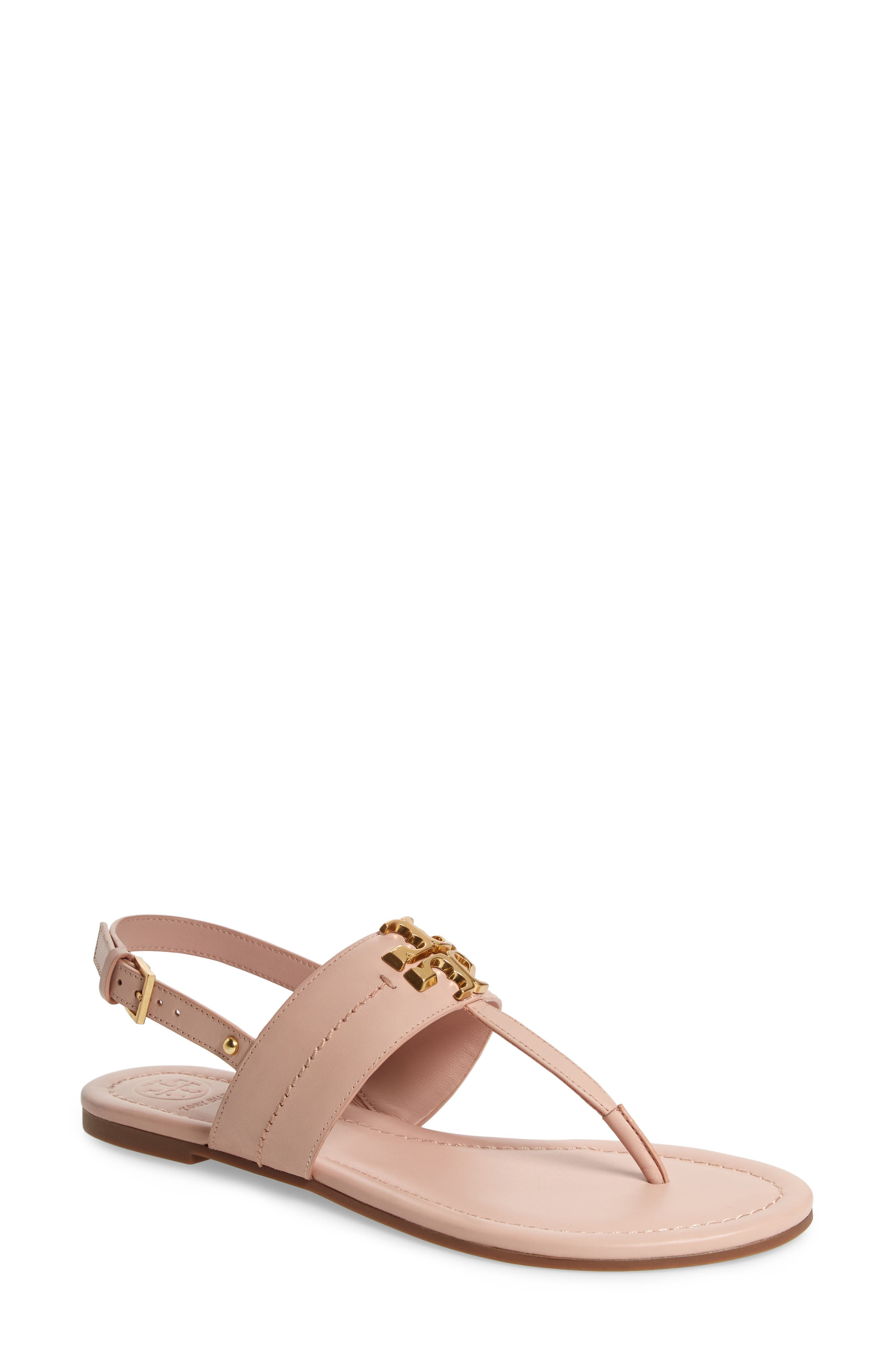 Tory Burch Everly T-Strap Flat Sandal (Women)