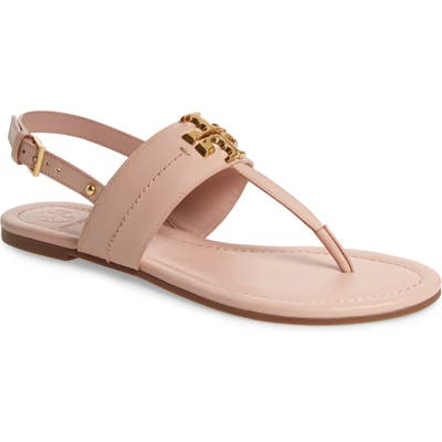 Tory Burch Everly T-Strap Flat Sandal, Pink