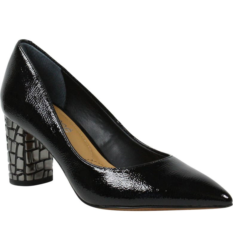 J. RENEÉ Vaneeta Pump, Main, color, BLACK FAUX PATENT LEATHER