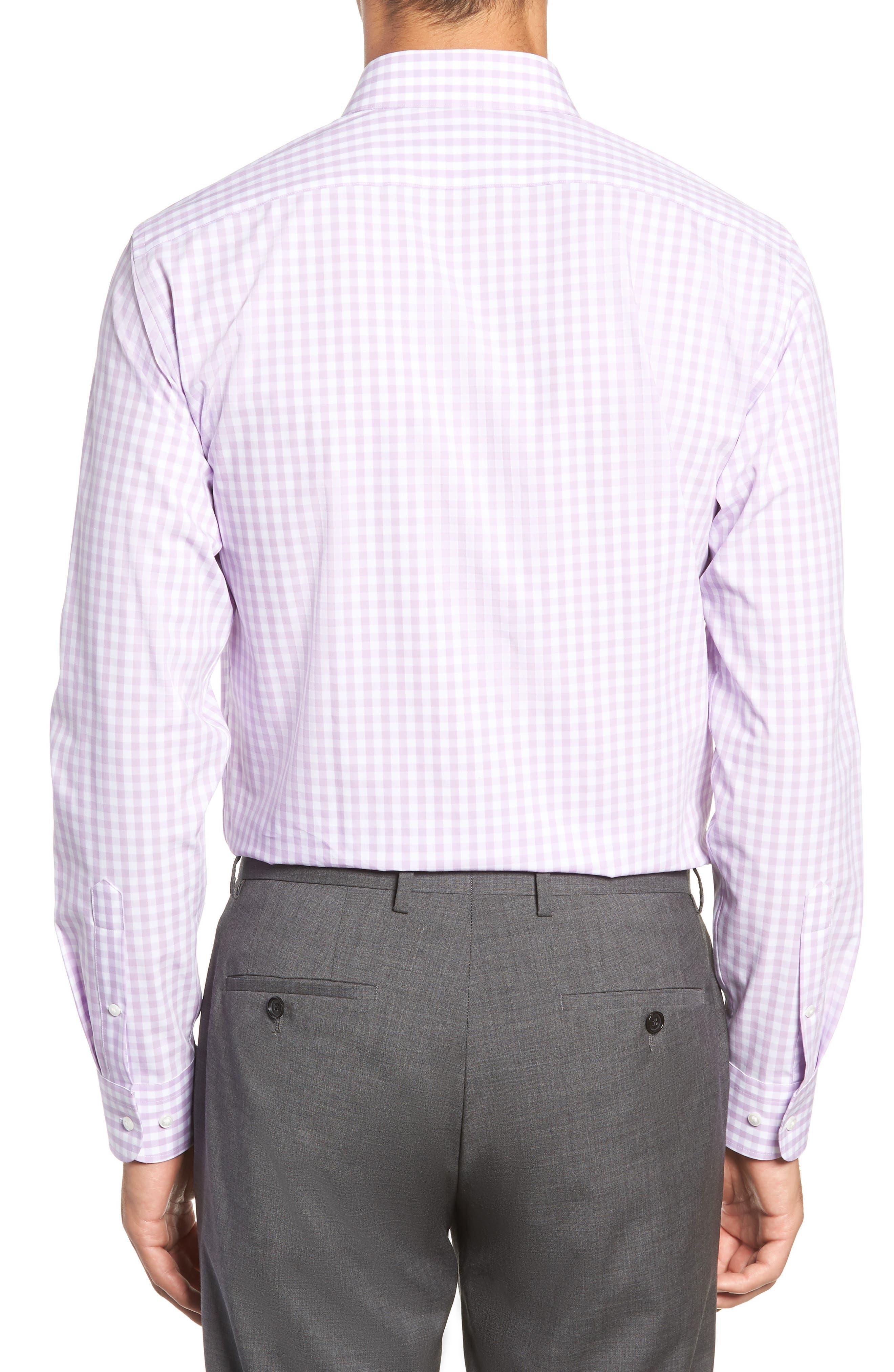 ,                             Tech-Smart Trim Fit Stretch Check Dress Shirt,                             Alternate thumbnail 47, color,                             530
