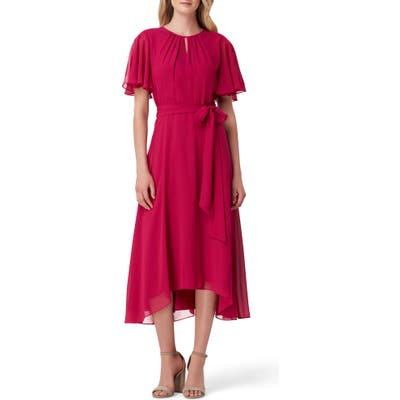 Tahari Chiffon Midi Dress, Pink