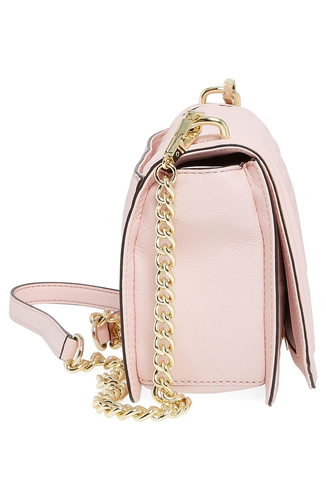 ,                             Love Leather Crossbody Bag,                             Alternate thumbnail 136, color,                             652