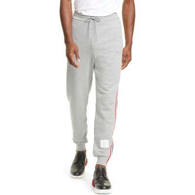 Thom Browne Rwb Stripe Sweatpants, Grey