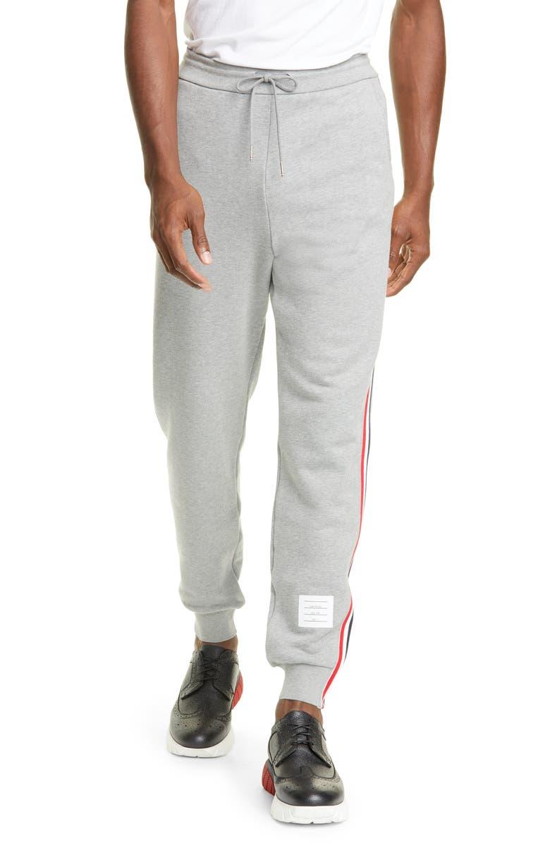 THOM BROWNE RWB Stripe Sweatpants, Main, color, 055