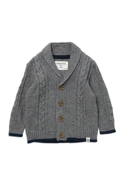 Image of Sovereign Code Antoni Cable Knit Button Up Sweater