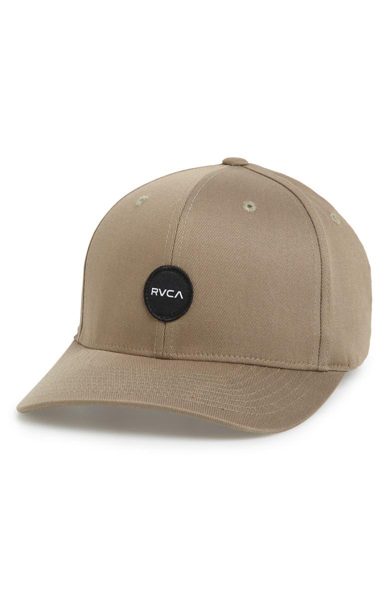 RVCA Mini Motors Baseball Cap, Main, color, OLIVE