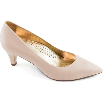 Marc Joseph New York Whitehall Pointed Toe Pump- Pink