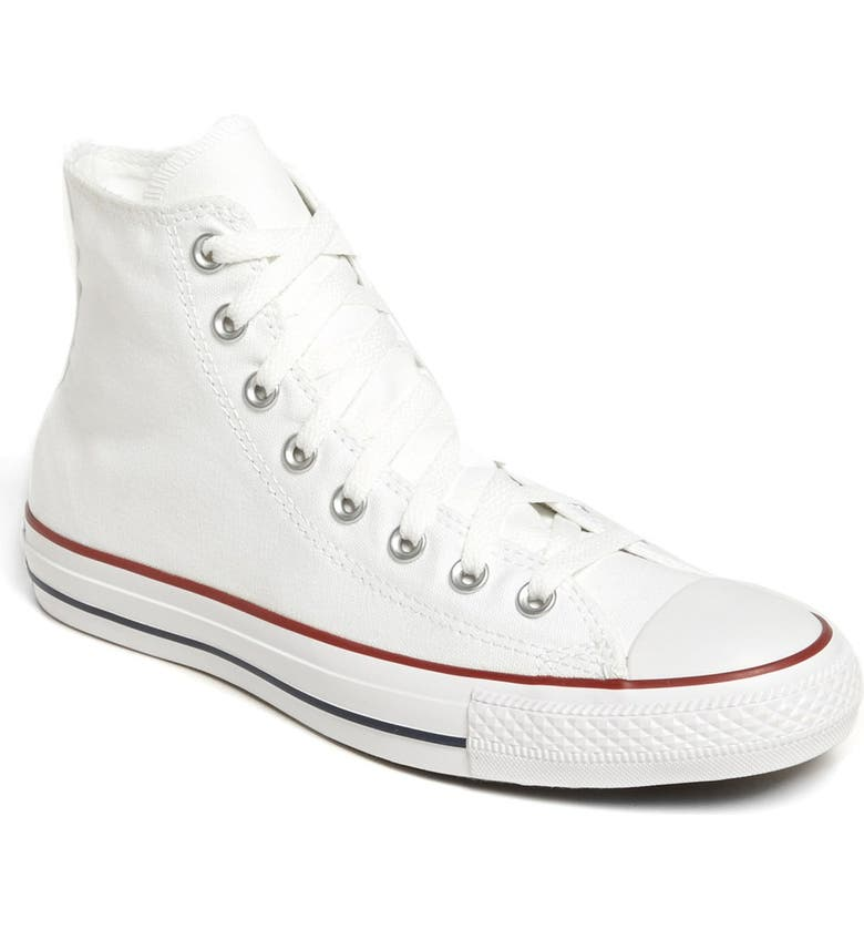 CONVERSE Chuck Taylor<sup>®</sup> All Star<sup>®</sup> High Top Sneaker, Main, color, OPTIC WHITE