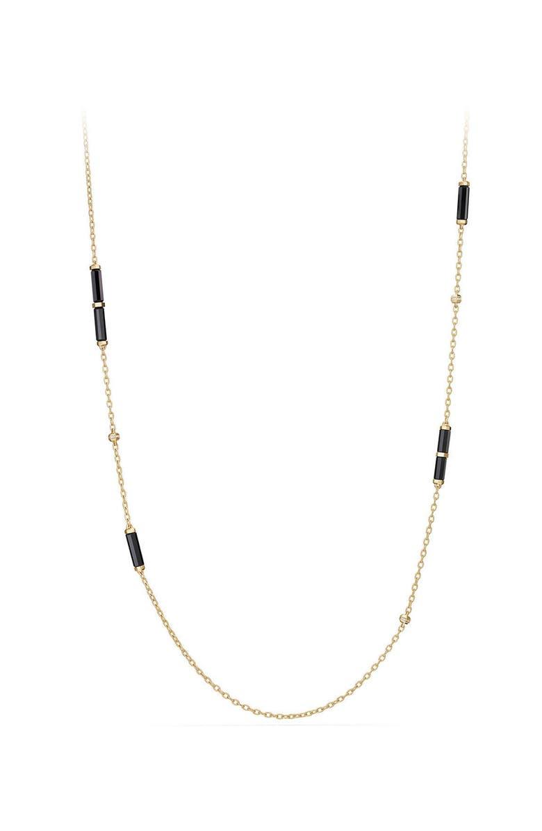 DAVID YURMAN Barrels Long Station Necklace with Diamonds, Main, color, YELLOW GOLD
