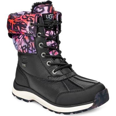 UGG Adirondack Iii Graffiti Waterproof Boot- Black