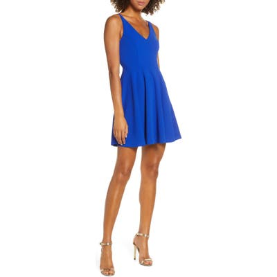 Lulus Darling Delight Skater Dress, Blue