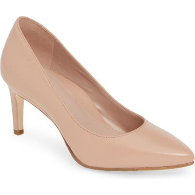 Taryn Rose Collection Gabriela Pointy Toe Pump, Beige