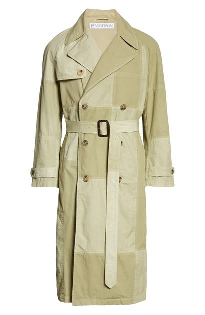 Jw Anderson Cottons UNISEX PATCHWORK TRENCH COAT