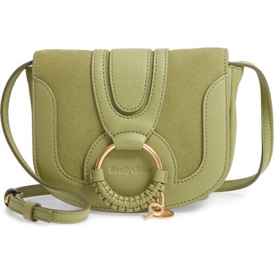 See By Chloe Mini Hana Leather Crossbody Bag - Green