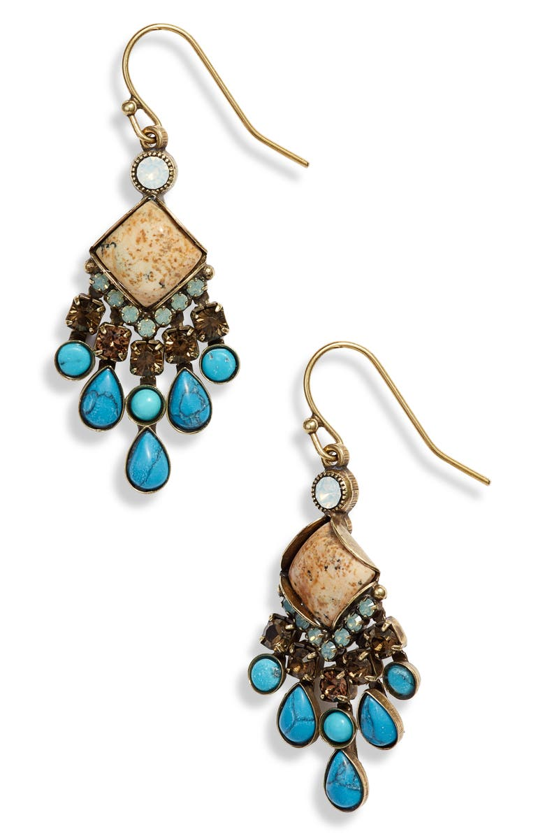 SORRELLI Boho Stone & Crystal Drop Earrings, Main, color, 710