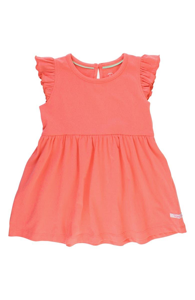 RUFFLEBUTTS Flutter Dress, Main, color, CORAL