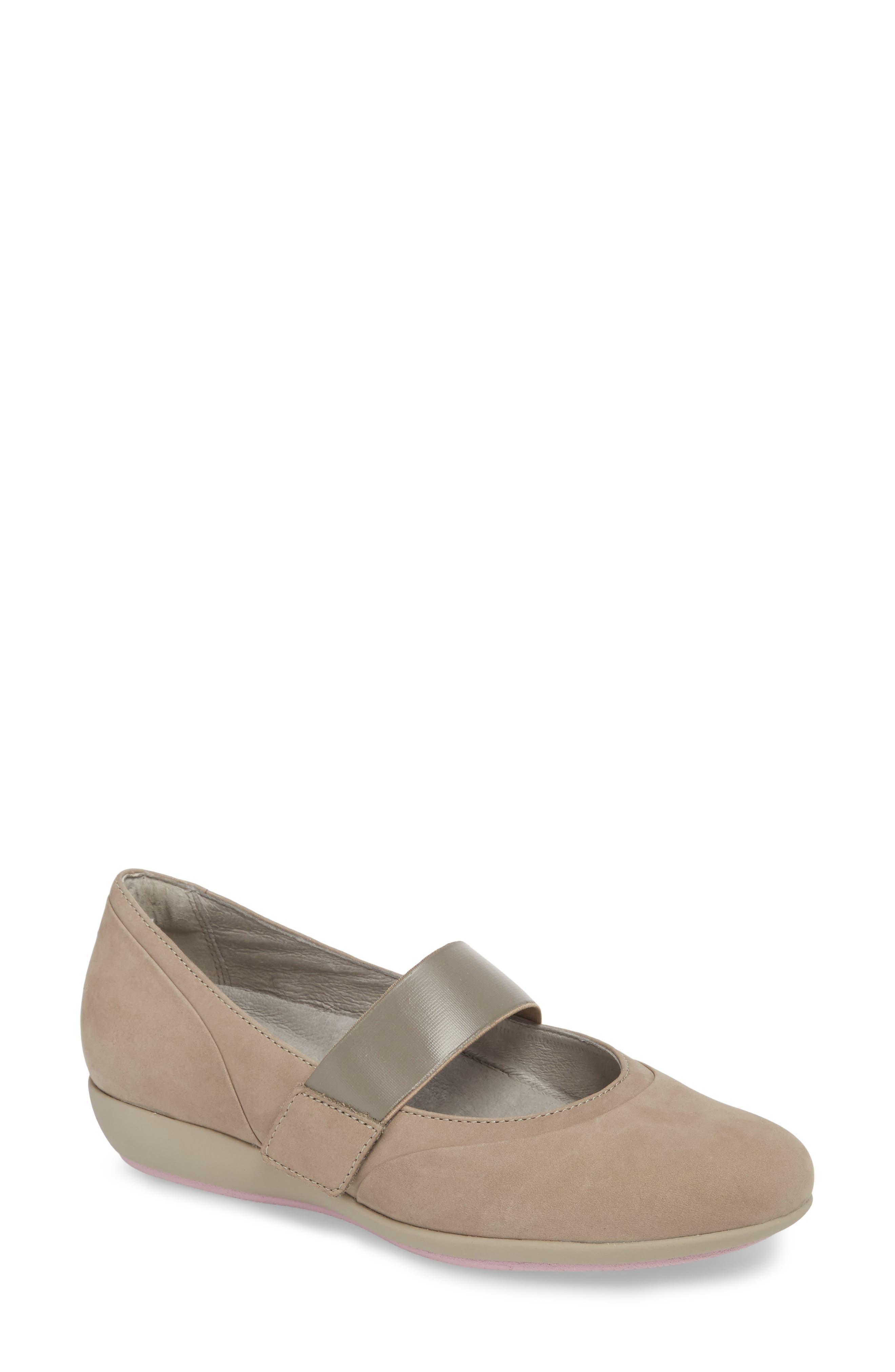 Dansko Kendra Mary Jane Wedge-6- Grey