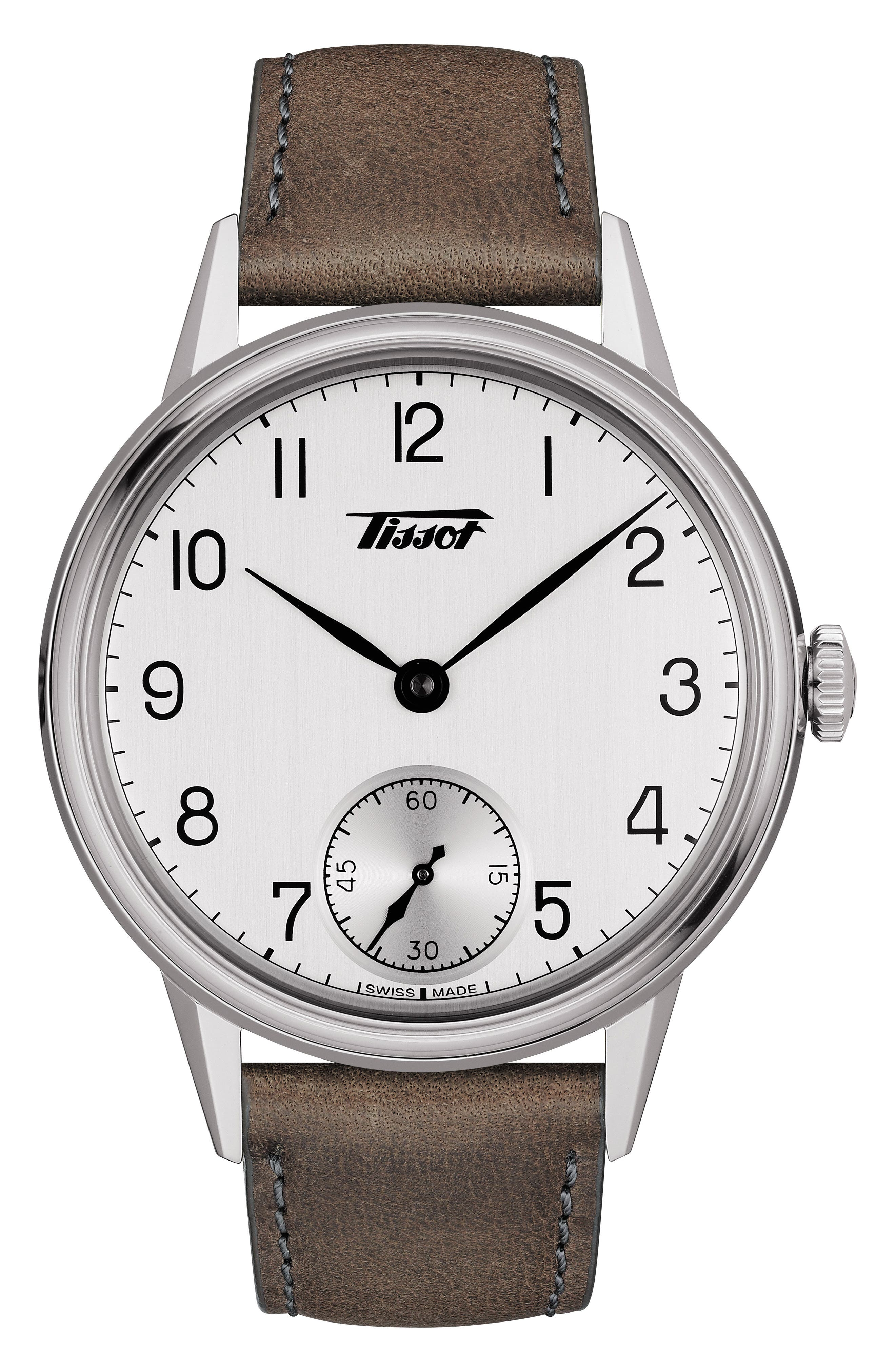 Image of Tissot Men's Heritage Leather Strap Watch, 42mm