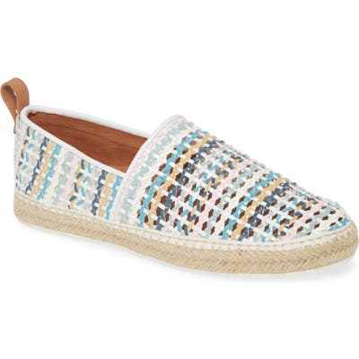 Gentle Souls By Kenneth Cole Lizzy Espadrille Flat, White