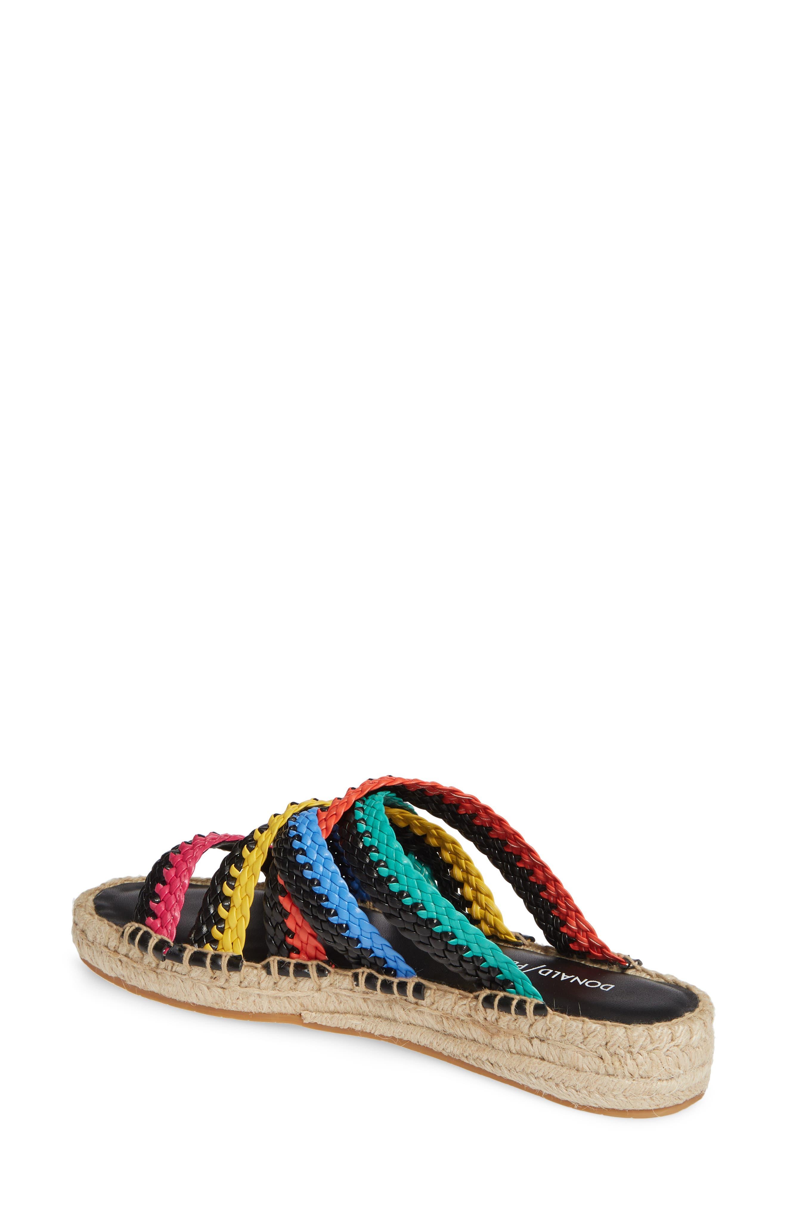 ,                             Rhonda Woven Espadrille Slide Sandal,                             Alternate thumbnail 2, color,                             BLACK MULTI LEATHER