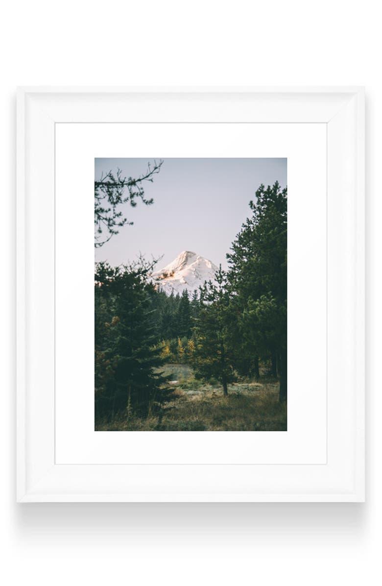 DENY DESIGNS Mount Hood XV Art Print, Main, color, WHITE FRAME- 8X10