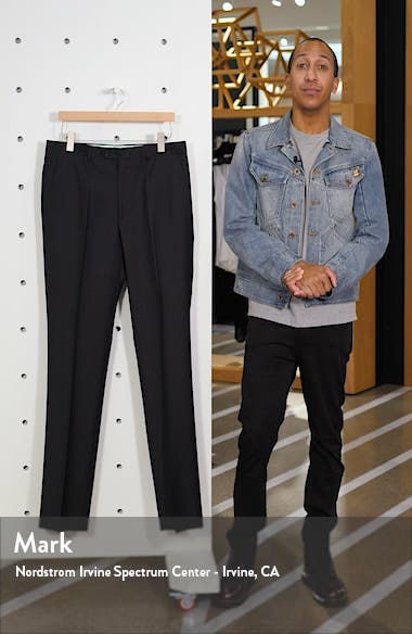 Luxury Flat Front Wool Trousers, sales video thumbnail