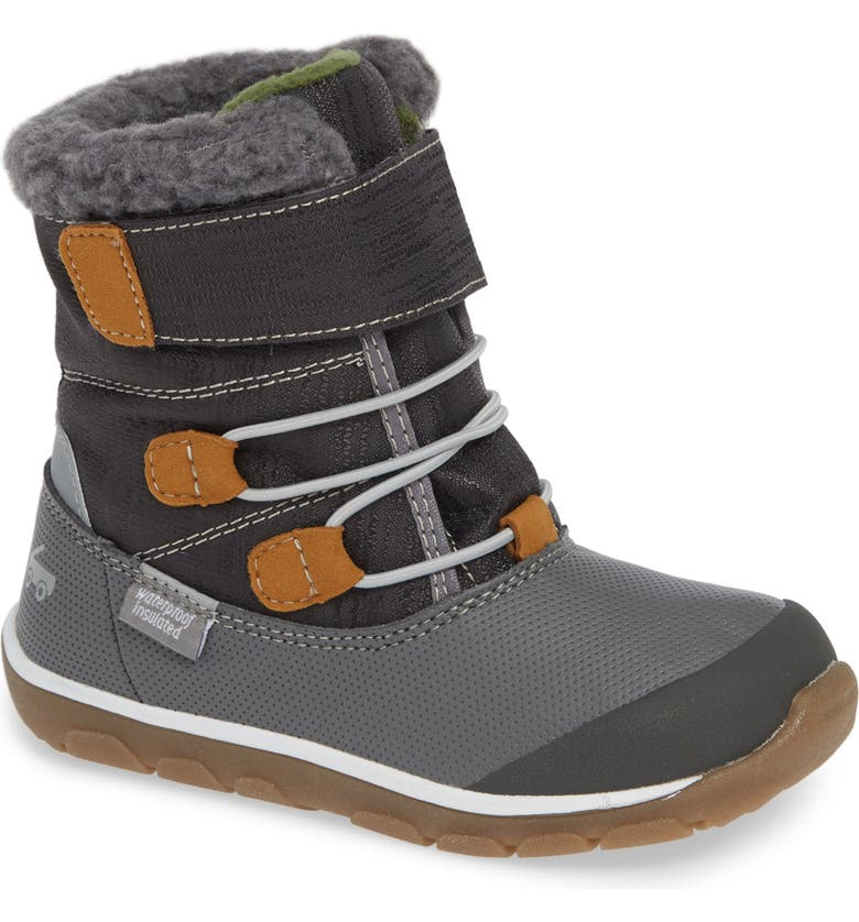 SEE KAI RUN Gilman Waterproof Insulated Boot, Main, color, GRAY SYNTHETIC