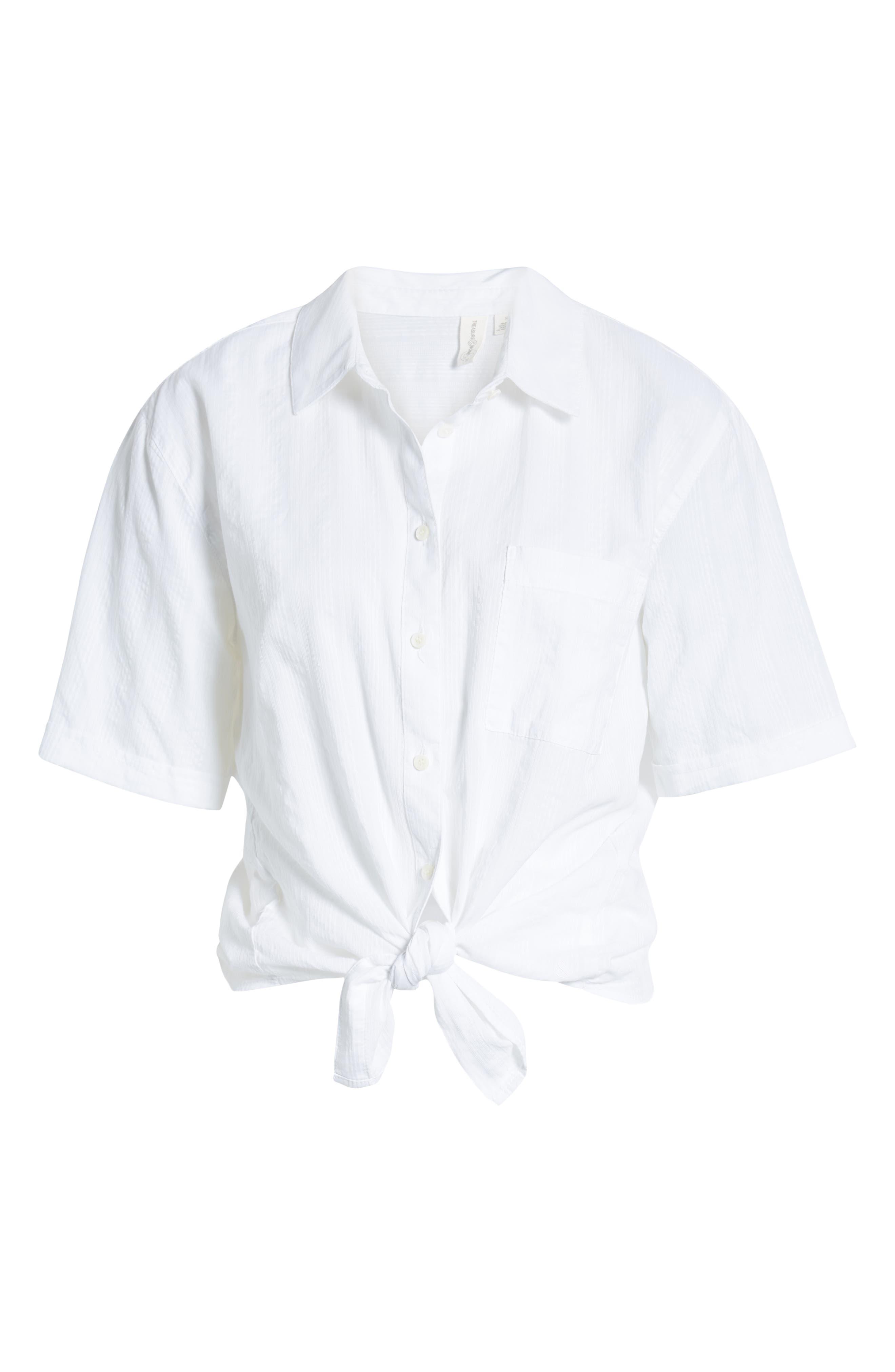 ,                             Stripe Shirt,                             Alternate thumbnail 6, color,                             WHITE SHALLIS STRIPE
