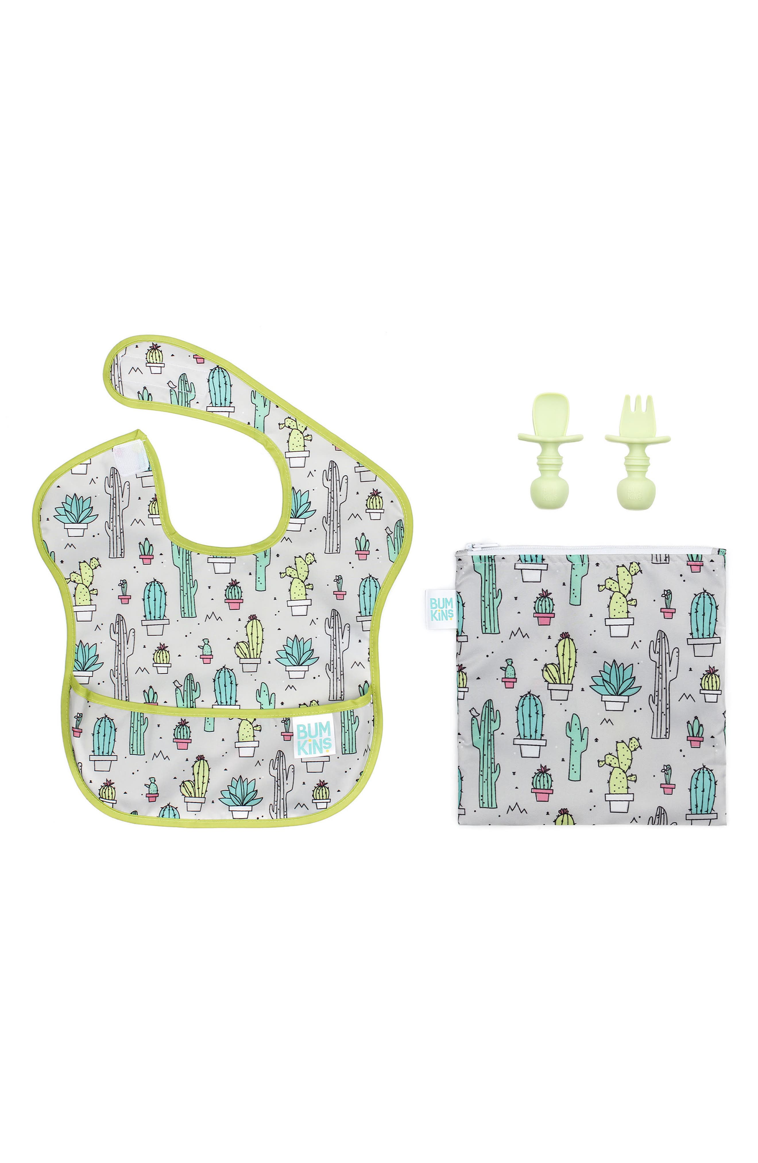 Infant Bumkins The Littles Who Lunch  Cactus Bundle Size One Size  Green
