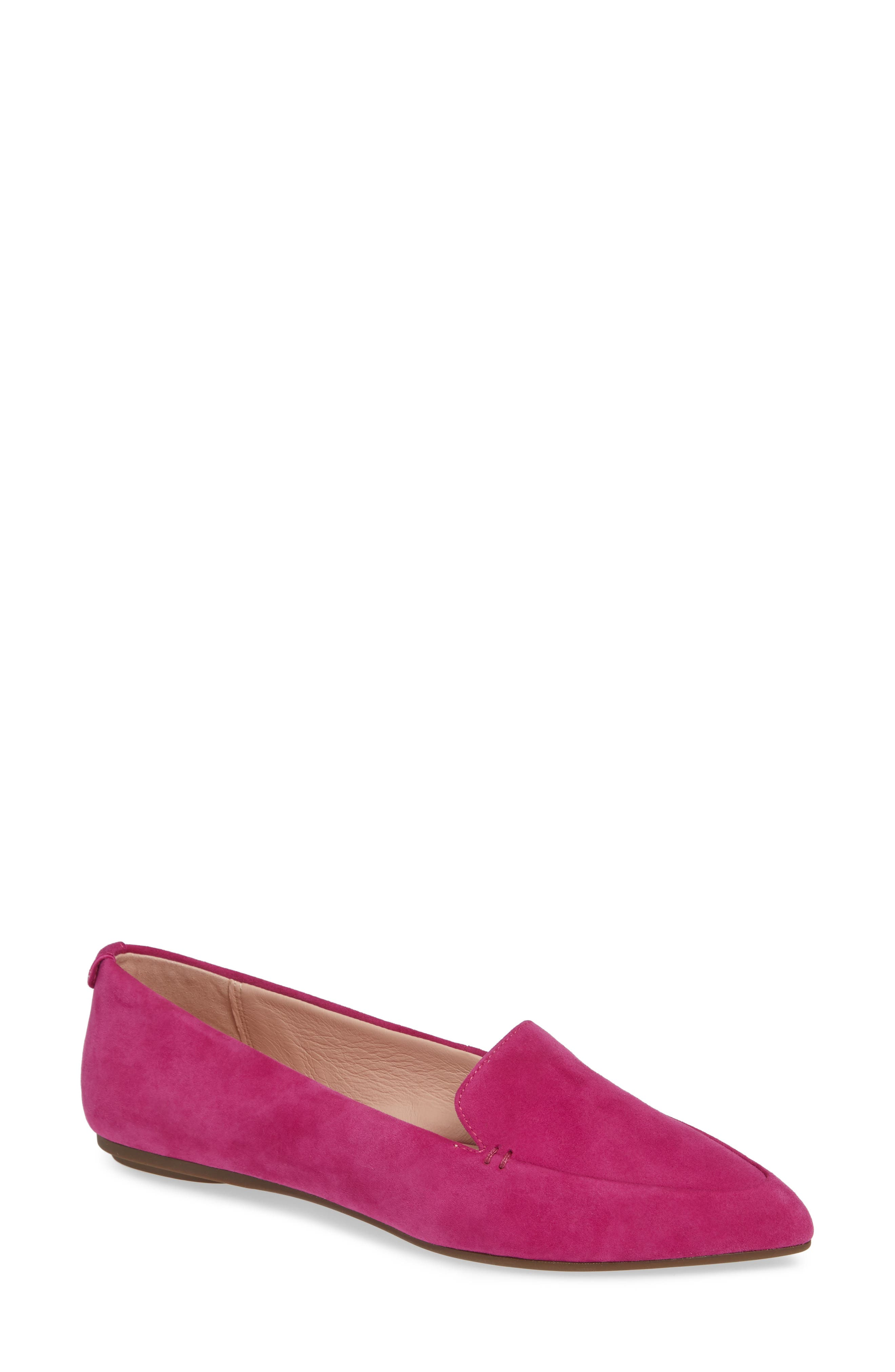 Taryn Rose Faye Pointy Toe Loafer- Pink