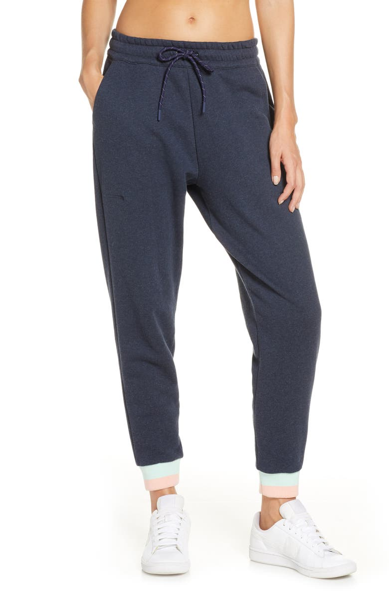 LNDR Trouble Jogger Pants, Main, color, NAVY MARL