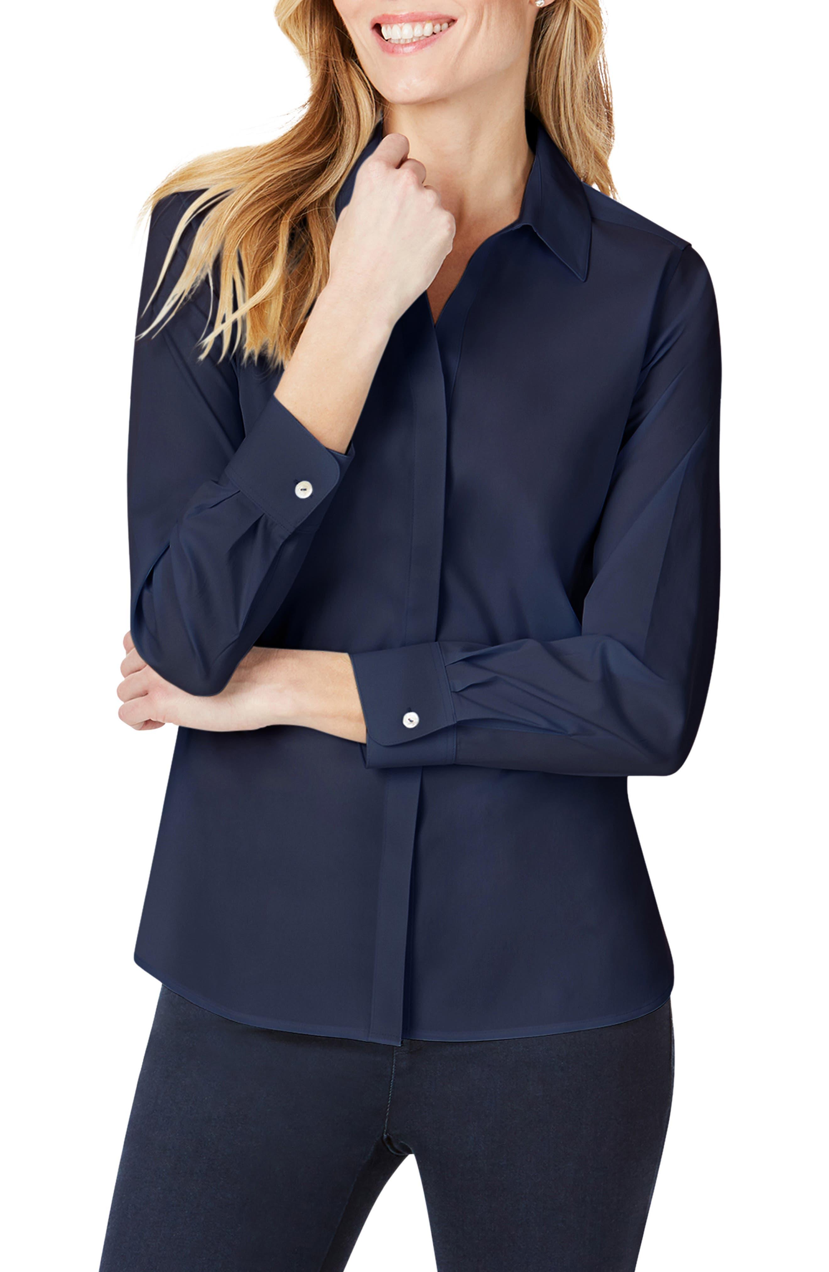 Kylie Non-Iron Cotton Button-Up Shirt