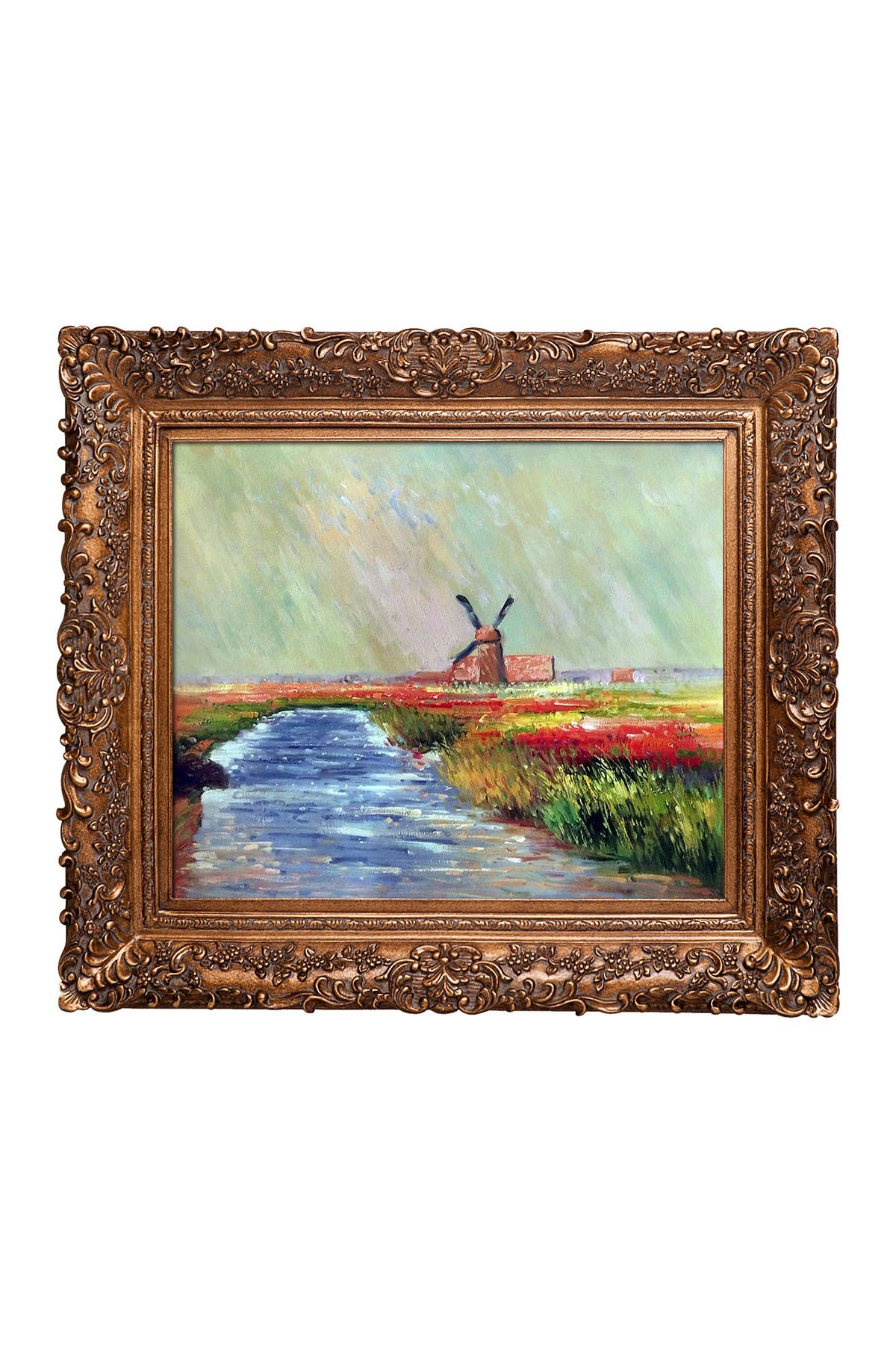 Tulip Field in Holland Framed Oil Painting by Claude Monet at Nordstrom Rack