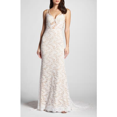Willowby Derica Lace Gown, Ivory