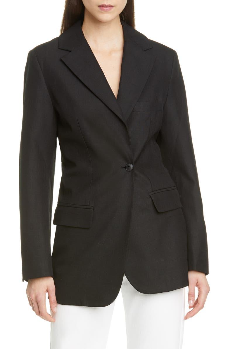 JACQUEMUS Costume Blazer, Main, color, BLACK