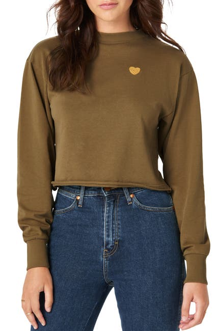 Image of Wrangler Love Dreams Good Jeans Crop Sweatshirt