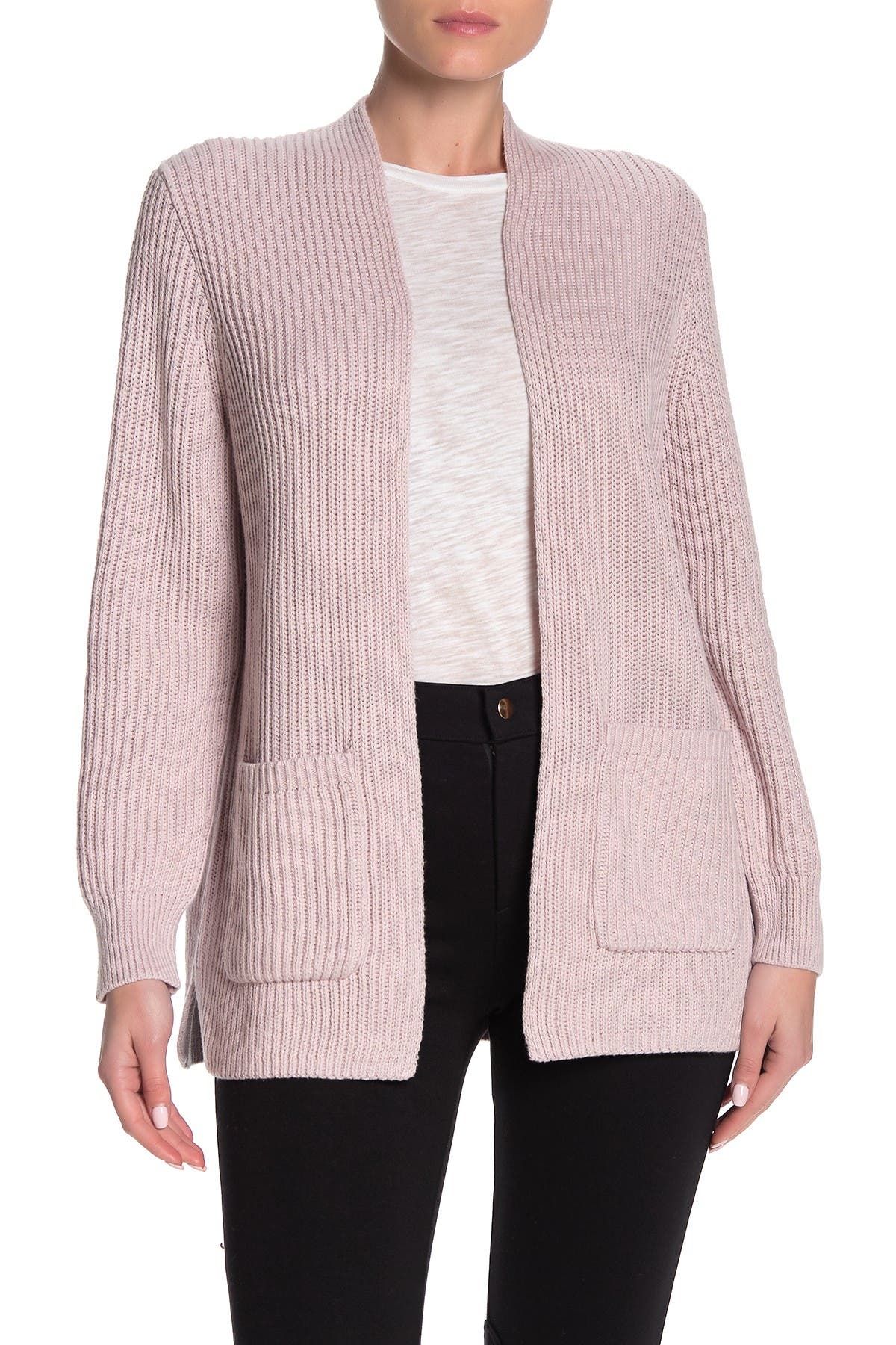 Image of Madewell Nolan Ribbed Open Front Cardigan