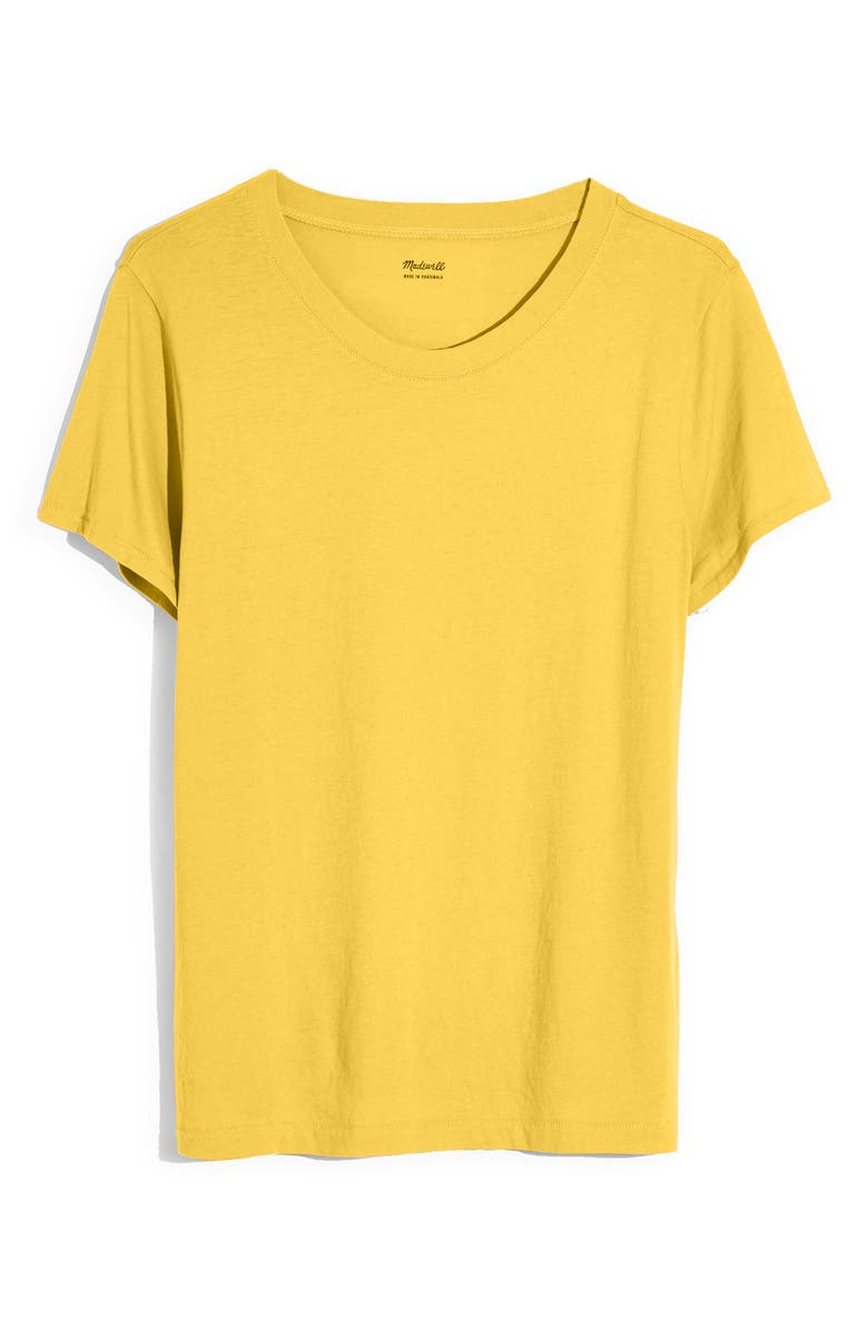 MADEWELL Northside Vintage Tee, Main, color, GOLDEN APPLE